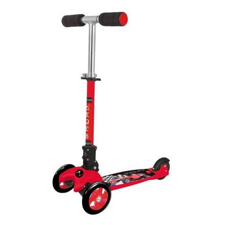 MONOPATTINO A TRE RUOTE ADVENTURE KID-GRAND PRIX ROSSO/NERO